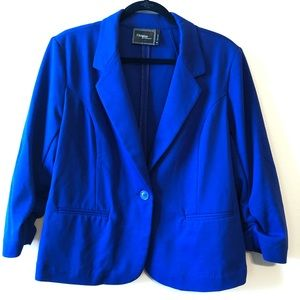 Christian Siriano Cobalt Blue Knit Blazer—XL